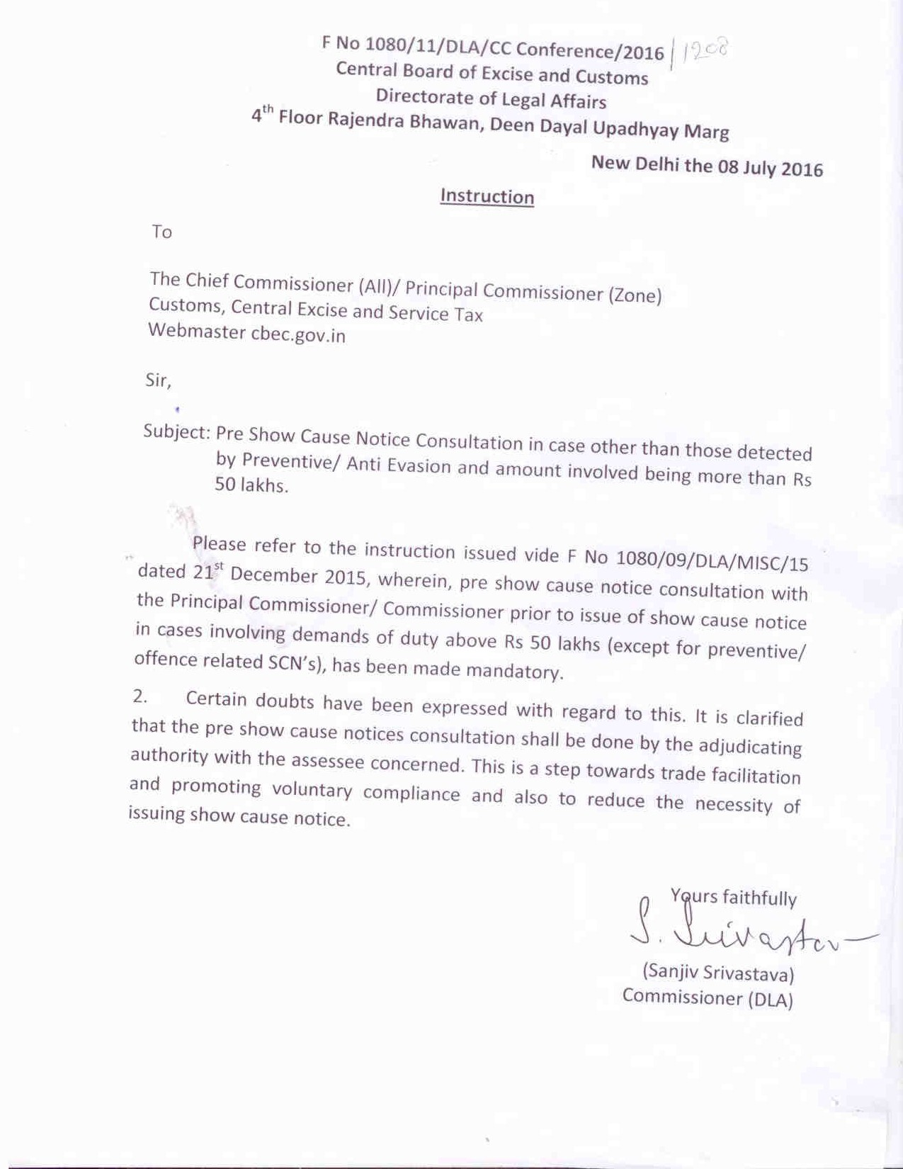 Report on important matters of cbic cause lists heard pre show casue notice consultation in case other than those detected by preventive anti evasion and amount involved being more than rs 50 lakhs spiritdancerdesigns Images